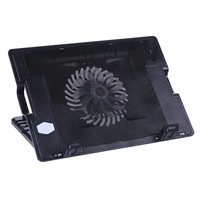 Laptop Cooler Accessories Adjustable 2 USB Laptop Cooling Cooler Pad Blue LED Stand For PC Notebook