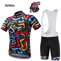 2019 Summer style Short lightning cycling jersey sets men Ropa Ciclismo Maillot Ciclismo sport clothing 9D gel pad mtb clothing