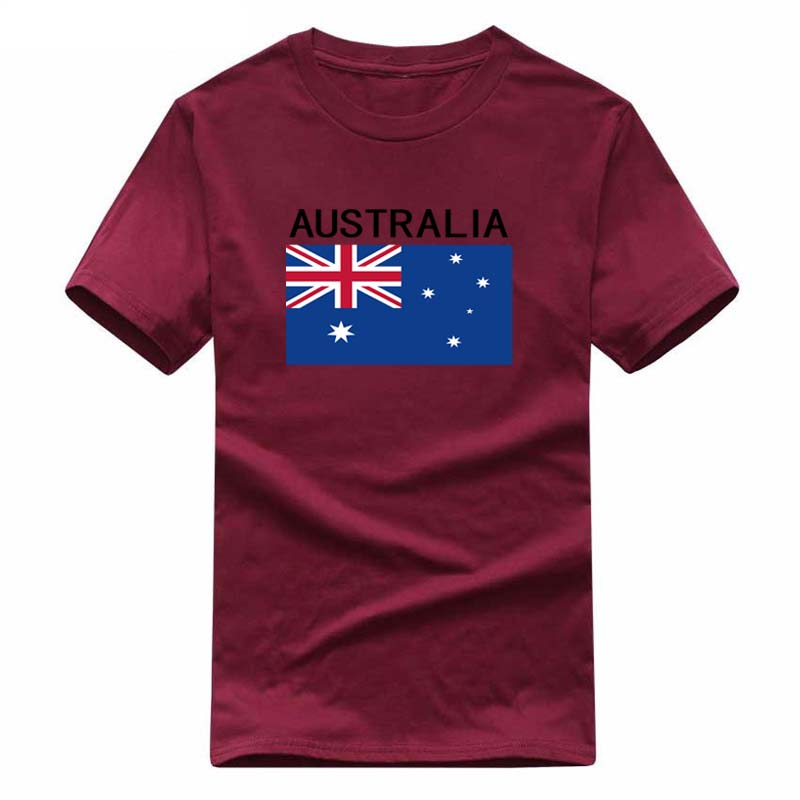 New Fashion AUSTRALIA National flag print t-Shirt men cotton short sleeves Casual t shirts men's  fans cotton  tops