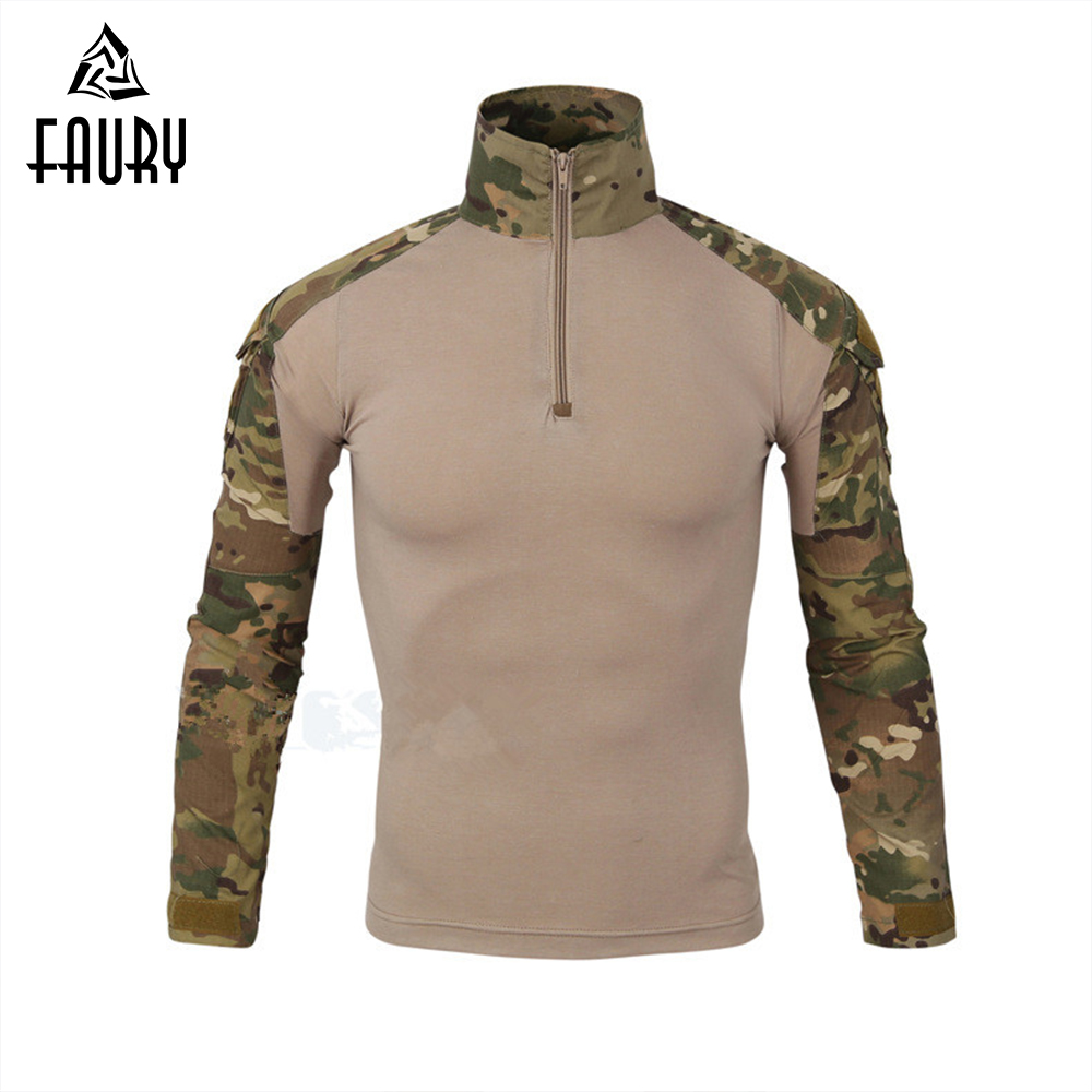 Tactical Military Uniform US Army Airsoft Camouflage Combat-Proven Shirts Rapid Assault Long Sleeve Shirt Tactical Clothes