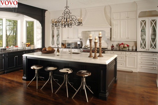 white kitchen cabinets and black island aliexpress buy white wood kitchen cabinet black 28664