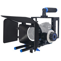 Mcoplus Professional DSLR Rig Video Camera Stabilizer Support Cage/Matte Box/Follow Focus For Canon Nikon Sony Camera Camcorder