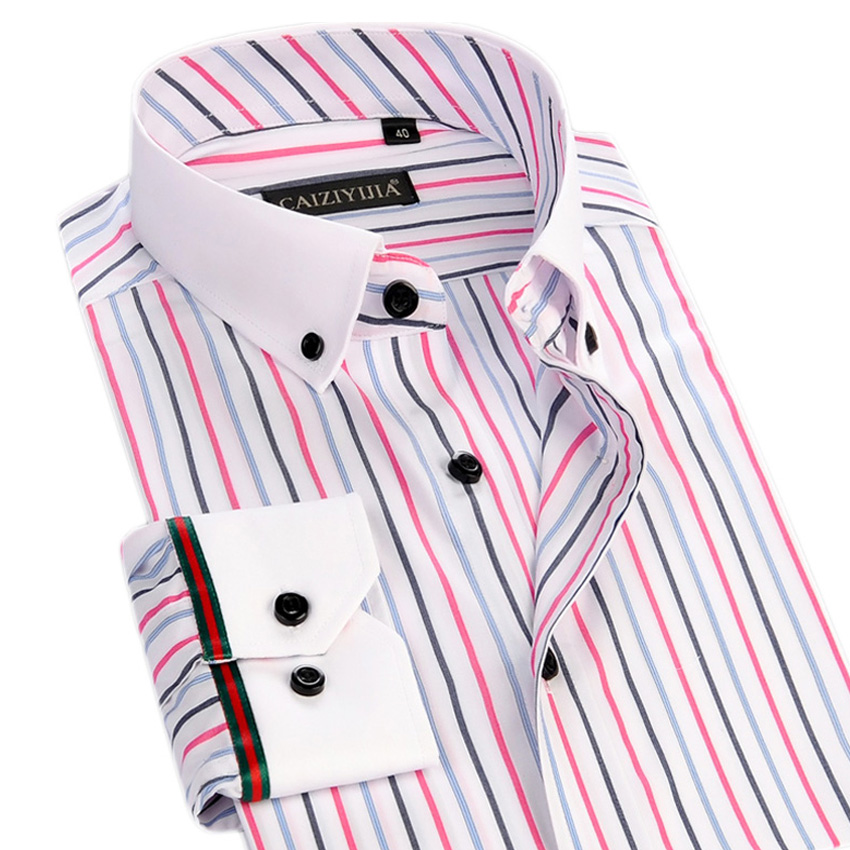 Buy new spring summer mens striped dress Buy white dress shirt