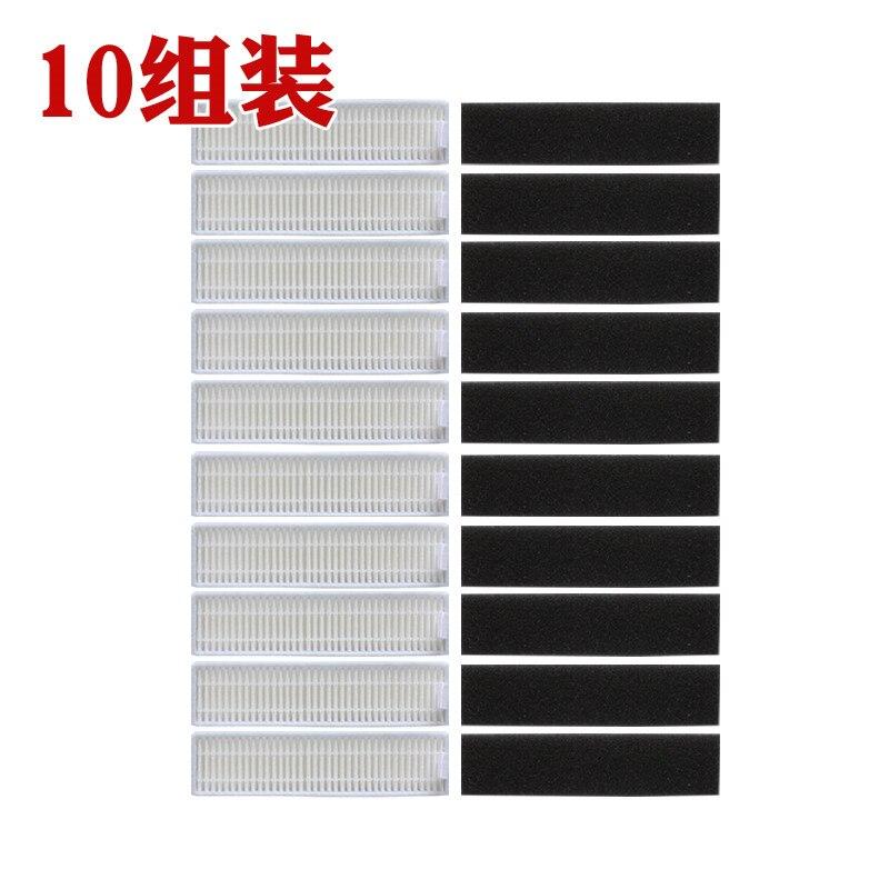Acheter 10 pcs éponge + 10 pcs filtre Hepa pour Ecovacs CHAMBRE D36A DA611 DB35 TEK TCR S TCR S2 Aspirateur Pièces de Pièces d'aspirateur fiable fournisseurs