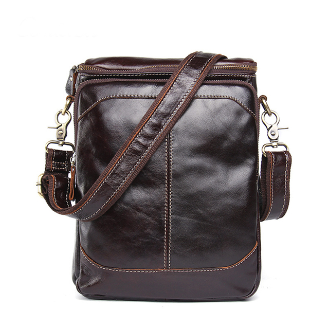 Genuine Leather Men Business bags Fashion Brand Designer Handbags Shoulder Vintage Retro Cow Bags Men Messenger Bags Briefcase