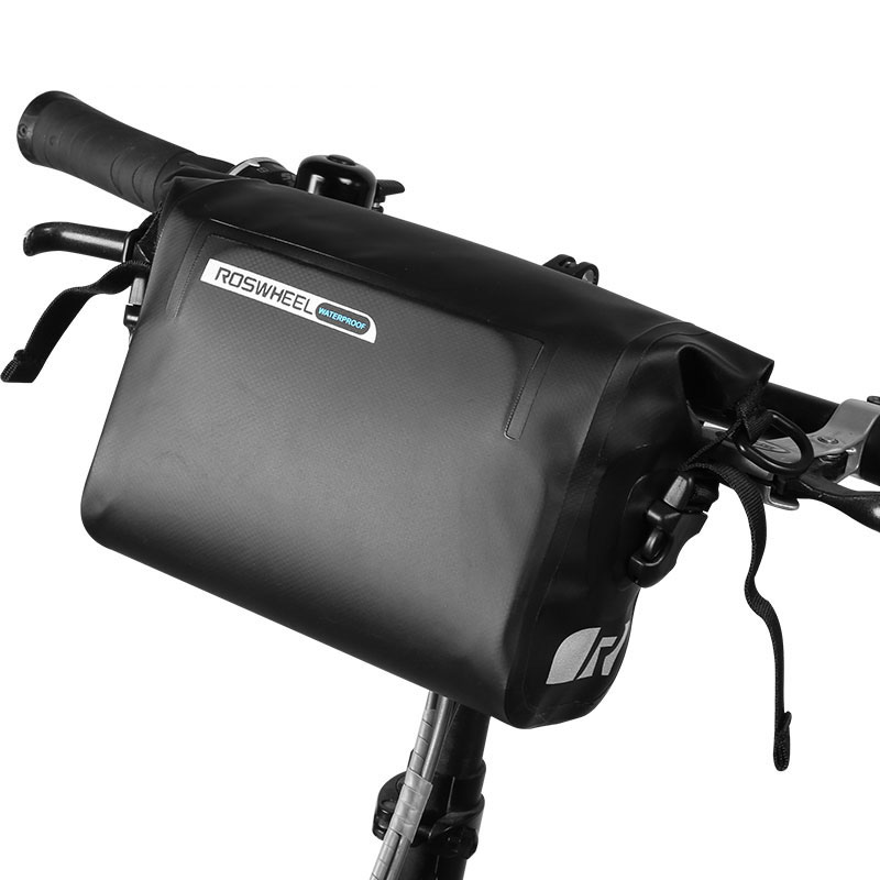 3L Bicycle Bag Water Proof MTB Bike Handlebar Front Basket PVC MTB Pannier Frame Tube Pouch Cycling Holdings Accessories roswheel dry 3l cycling bike bicycle handlebar front basket pvc full waterproof bags bike accessories cycle pannier pouch 111361
