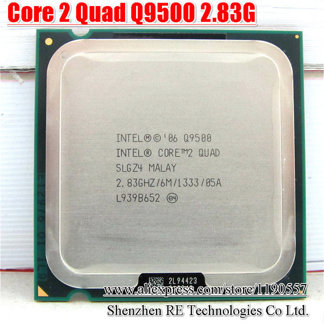 Intel Core2 Quad Q9500 Bộ Vi Xử Lý 2.83 GHz 6 MB Bộ Nhớ Cache FSB 1333 Máy Tính Để Bàn LGA 775 CPU