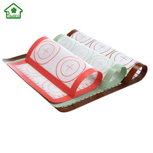 PTFE Non-stick BBQ Grill Mat Glassfiber Barbecue Baking Liners Reusable Silicone Mats 3 Size Kitchen Food Pad for Baking Cooking