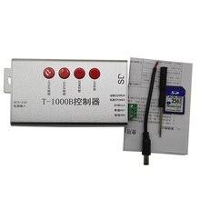 Free Shipping DC5V-24V T1000B SD Card WS2801 WS2811 WS2812B LPD6803 8806 LED strip digital led 2048 Pixels DMX512 RGB Controller недорого