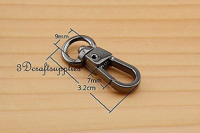 Lobster Clasps Clips Claw purse hooks Swivel snap hook gunmetal 9 mm 10pcs AT95 owner 52567 16 hooked snap swivel 9 шт