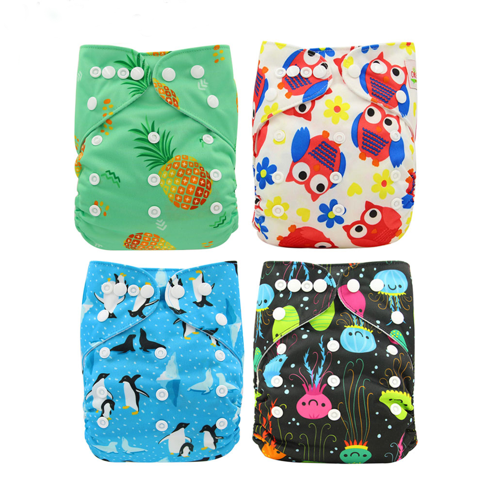 Baby Cloth Diaper Washable Ohbabyka Reusable Pocket Diaper Covers Baby Nappies Couche Lavable Bamboo Infant Newborn Nappy