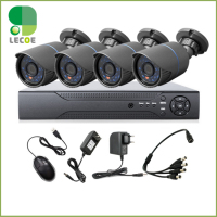 4CH CCTV System 960H DVR HDMI 4PCS 1200TVL IR Weatherproof Outdoor CCTV Camera Home Security System
