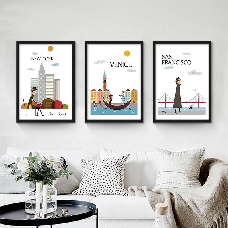 Aliexpress Com Buy 3 Pieces Wall Art New York City: Online Shopping London Canvas