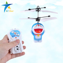 Anime doraemon electric RC plane Induction aircraft children kid Remote Control Airplane toy Automatic manual infrared sensors