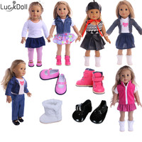 Luckdoll dolls of various styles, shoes fit 18 inch American dolls, dolls, children's favorite doll accessories