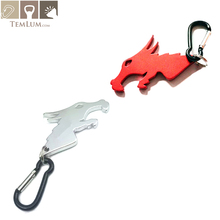 TEMLUM Dragon Head Shape Personalized Beer Bottle Opener Keychain, Key Tag Chain Ring  Trinket Tool Free Shipping chic dragon head shape ring for men