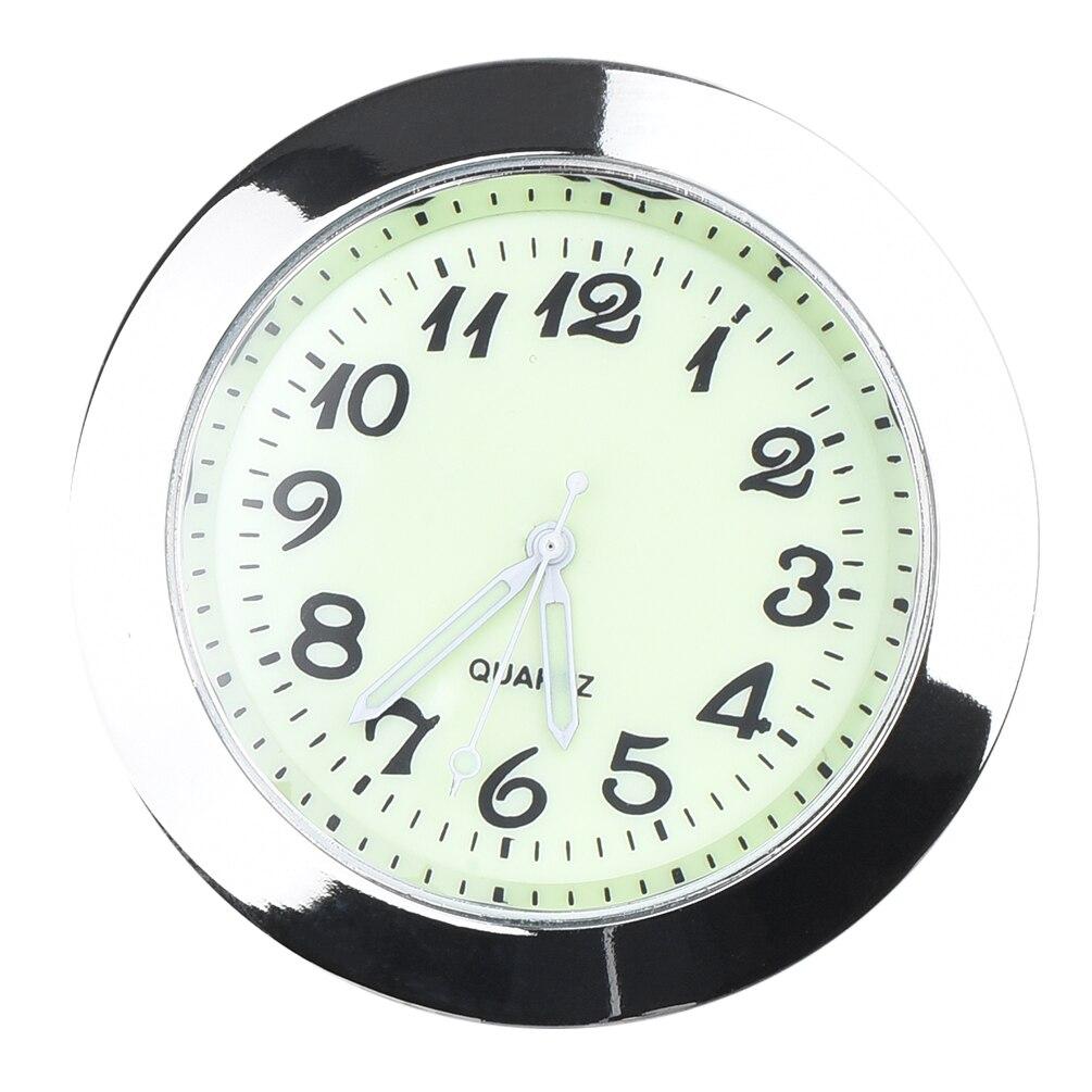 CARGOOL приборной панели автомобиля часы мини автомобиля часы световой вентиляционное отверстие часы с зажимом LR626 Батарея серебро