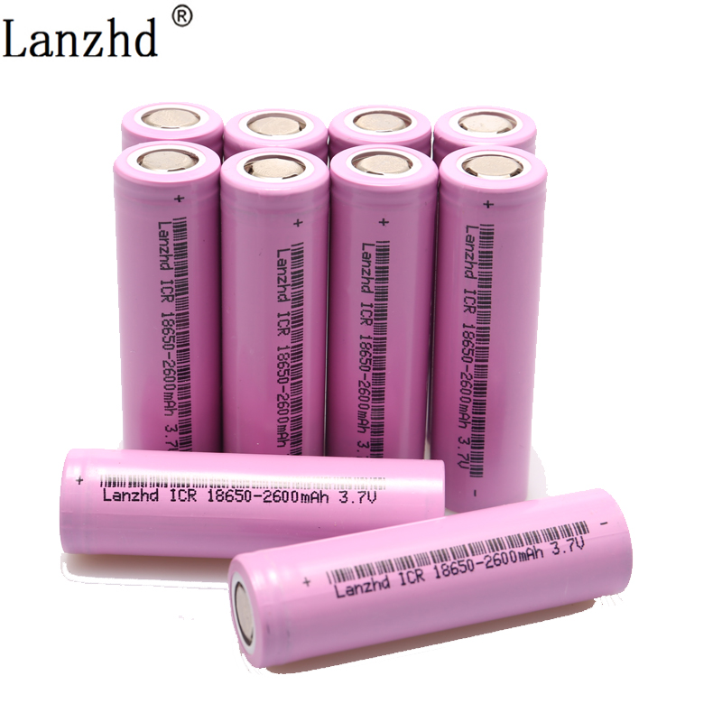 2020 NEW 3.7V Battery for samsung 18650 Li ion Battery Rechargeable batteries 2600maH ICR18650 26F Battery for flashlight image