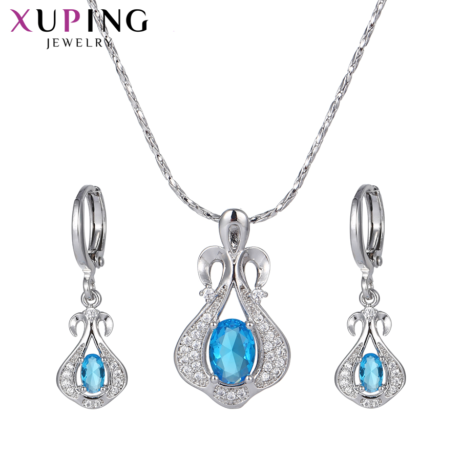 Deals 11.11 Xuping Elegant Temperament Jewelry Sets Environmental Copper for Women Mother's Day Gift M34-6001