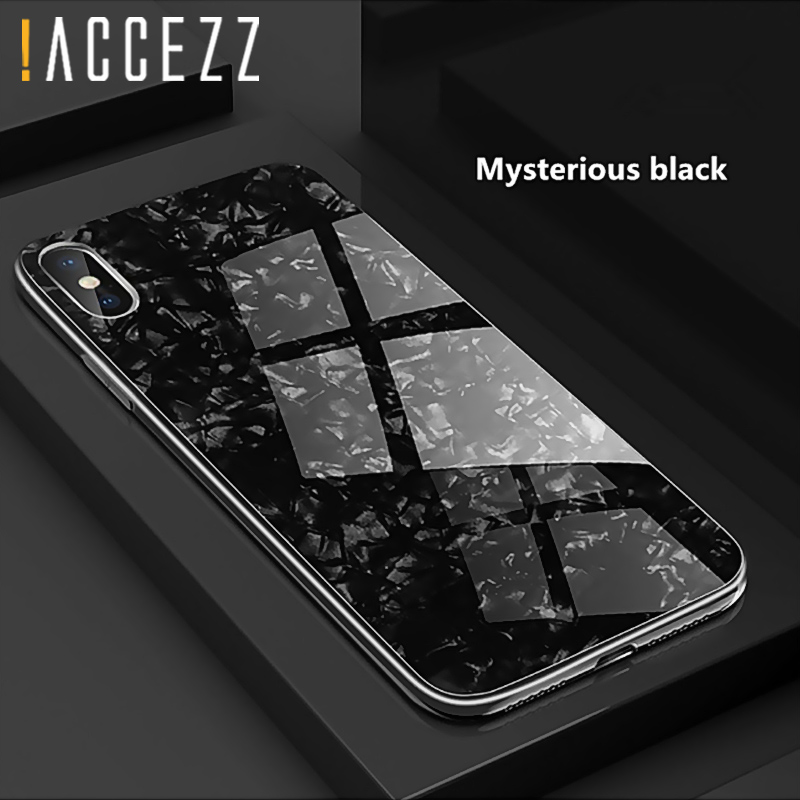 Luxury Tempered Glass Geometric Case For iPhone X 7 8 Plus Soft TPU Frame Art Print Patterned Protective Cover For iPhoneX 10 iphone 6 plus kılıf