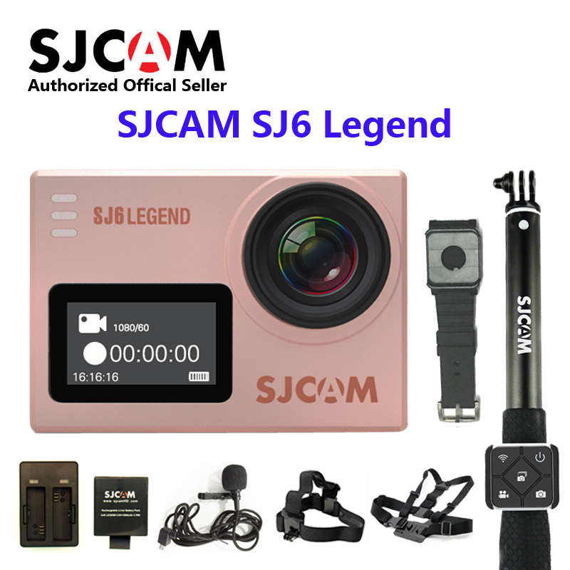 Original SJCAM SJ6 LEGEND WiFi 4K 24fps Ultra HD Notavek 96660 Waterproof Action Camera 2 Touch Screen Remote Sports in stock sjcam legend sj6 wifi notavek 96660 4k 24fps ultra hd waterproof camera action cam 2 0 touch screen remote sport dv