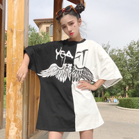T Shirt Make Firm Offers Angels and Demons Splicing Wings T-shirts