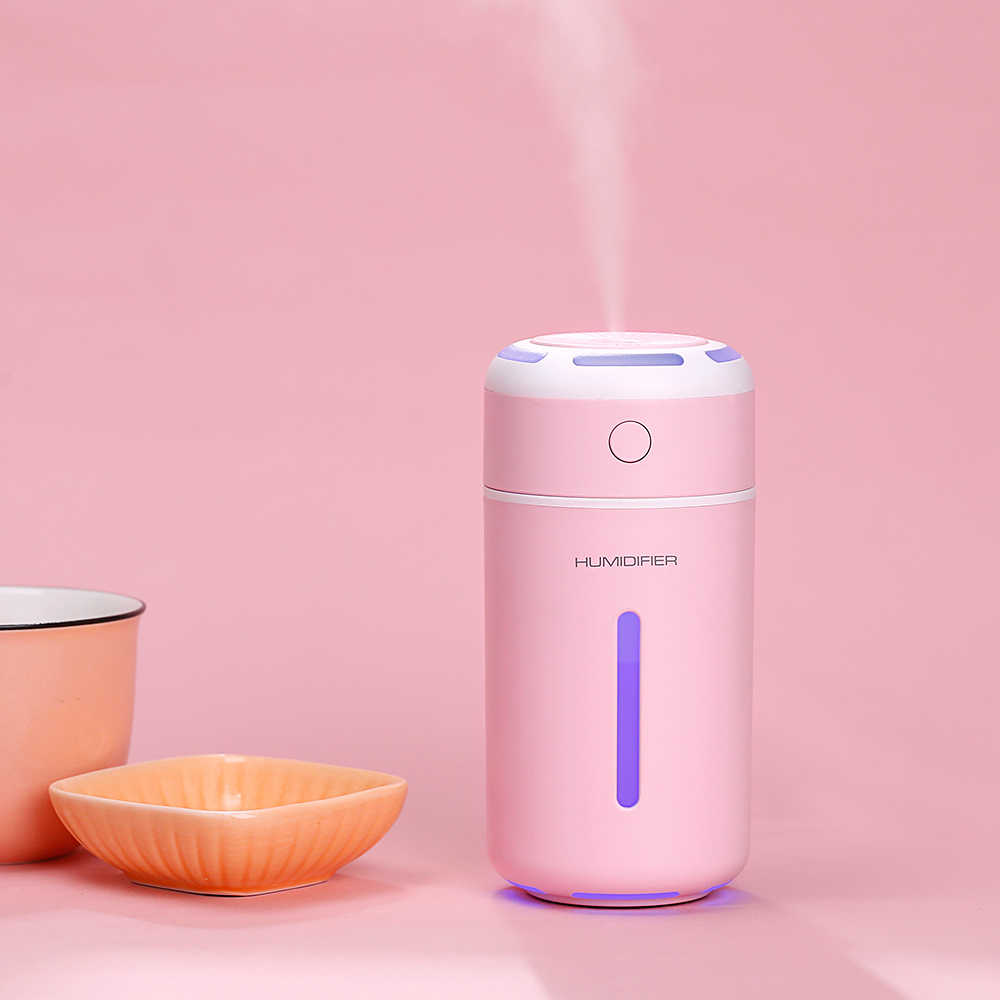 GRTCO Sıcak Satış USB Ultrasonik Hava Nemlendirici aroma yağı difüzörü Renkli Işıklar ile 230ml 2 Sınıflarda Mist Maker Sisleyici Difüzör