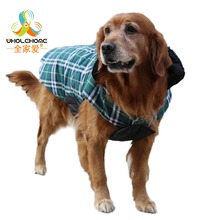 Designer Warm Plaid Winter Dog Coats Waterproof Reversible Dog Jacket Pet Clothes Elastic Small to Large Dog Clothes