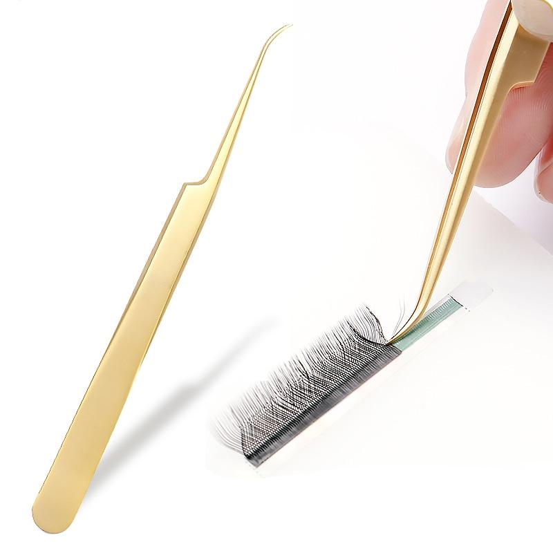 Volume Eyelash And Volume Lash Tweezers Professional High Precision Stainless Steel Lash Tweezers Light Eyelash Extension Pincet