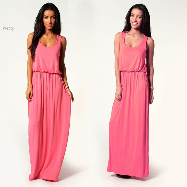 Plus size summer dress Women Racer Back Maxi Dress Jersey Toga Women  Chiffon Party Dresses Sexy Long Dress 10 24 3e22cf694ac9