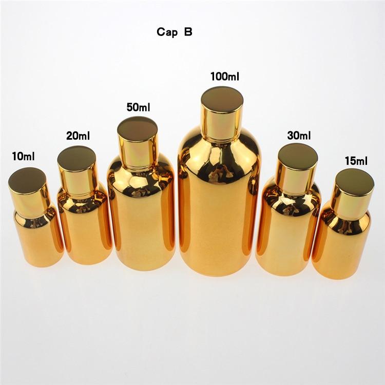 100 copë ari 50ml shishe qelqi luksoz me vaj thelbësor me kapak - Mjet për kujdesin e lëkurës - Foto 4