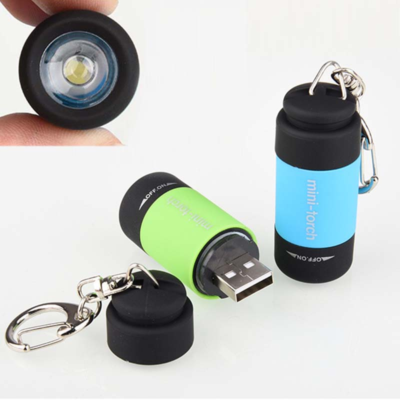 Wasafire New Mini Torch 0.3W USB Rechargeable Portable LED Torch Lamp Waterproof Flashlight Keychain Lantern For Camping Working