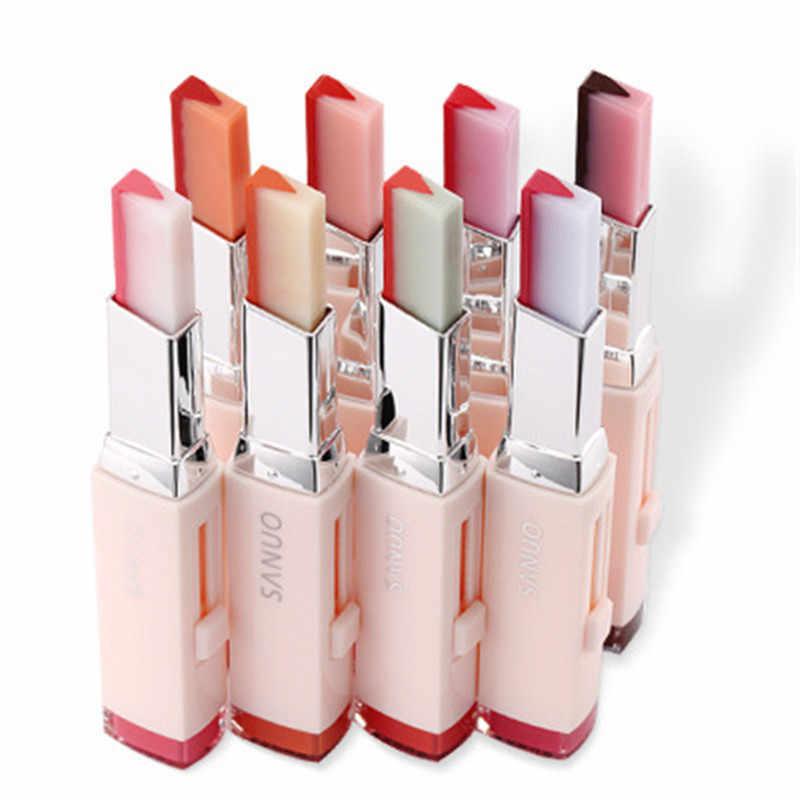 8 цветов, градиентный цвет, Корейская губная помада, v-образный вырез, двухцветный оттенок, шелковистая увлажняющая питательная губная помада, бальзам для губ, косметика