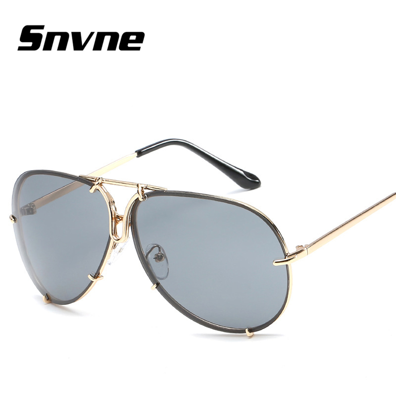 Snvne Sun glasses 2017 new Personalized removable lens sunglasses for men women Brand design oculos font