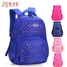 Large Capacity Back Pack Fashion Dot Printing Cute Nylon Backpack For Teen Girls High Quality School Schoolbags