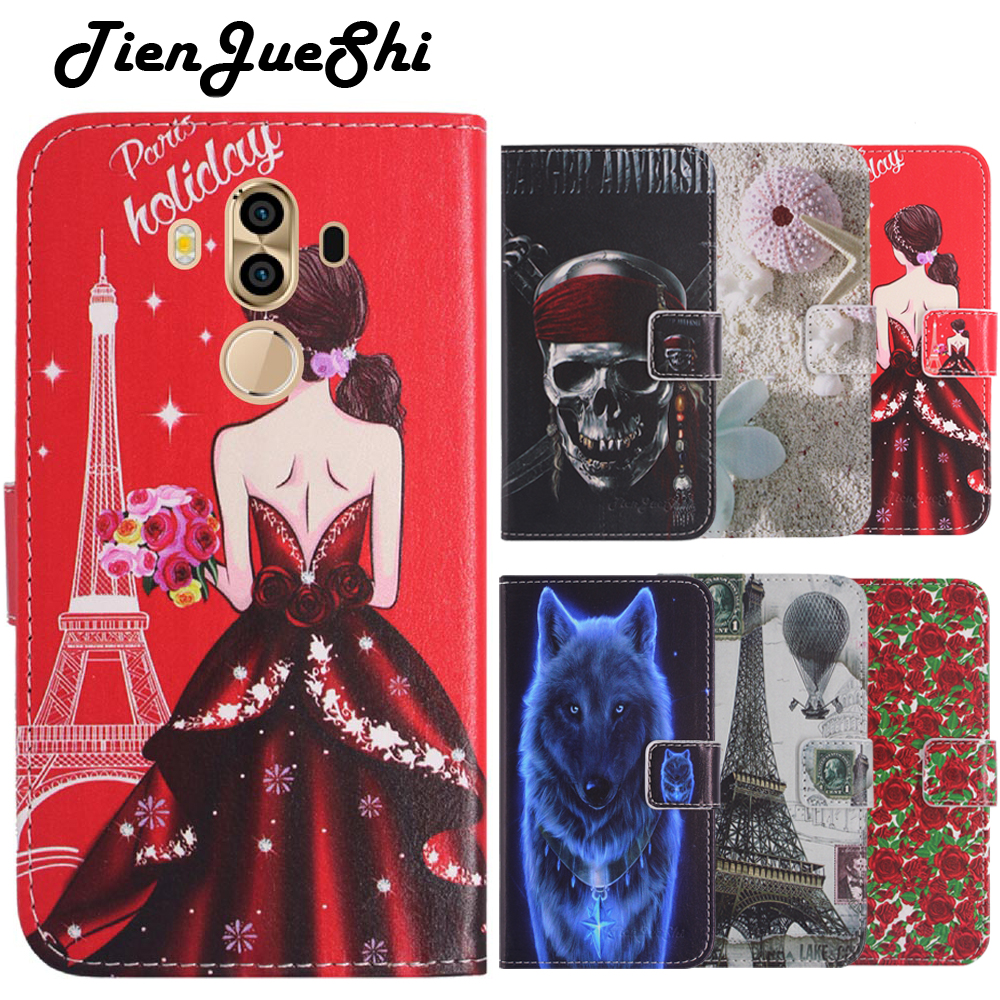 TienJueShi Fashion Flip Book Design Protect Leather Cover Shell Wallet Etui Skin Case For CTC smartphone 3G 6 inch