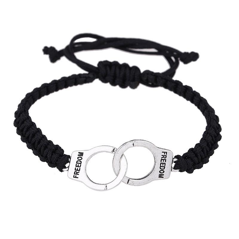 Adjustable Vintage Handmade Bracelet Men Jewelry Handcuffs Charm Bracelet for Women Accessories Friendship Girl Couple Bracelets 8