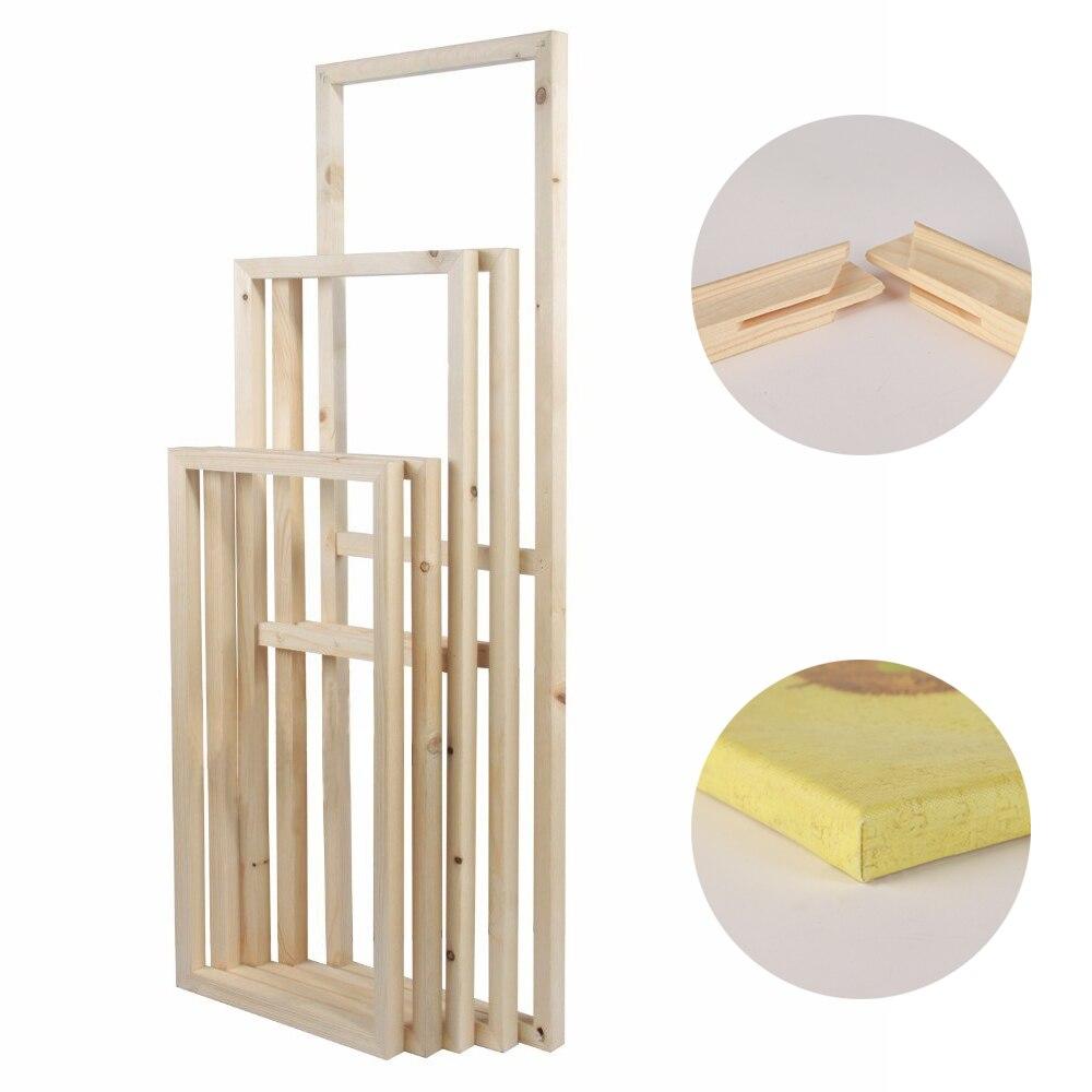 Nuevo marco flotante de madera sólida interior DIY para pintura sobre lienzo con diamantes marcos de aceite montaje de estiramiento de Arte de pared para pinturas en Póster