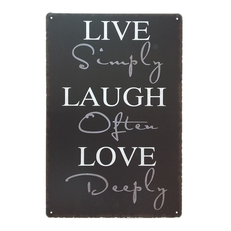 Live Laugh Love Retro Home Metal Tin Sign Wall Art Decor