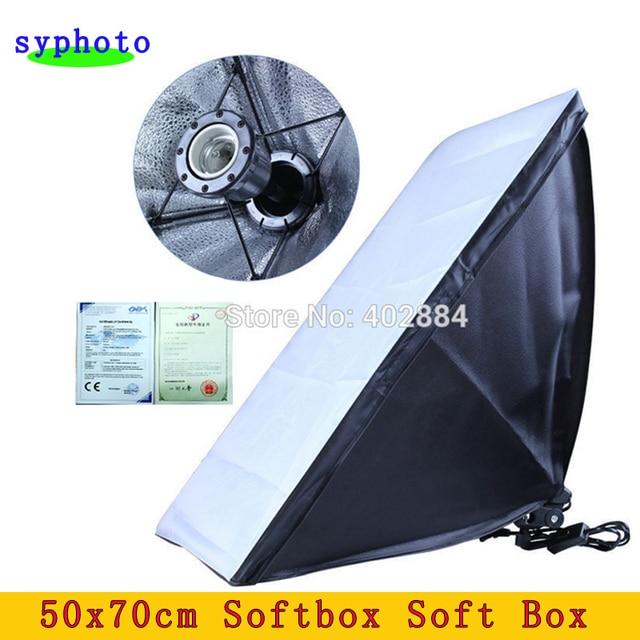 photographic equipment 50x70cm Softbox Soft Box E27 Lamp Holder/Socket For Studio Continuous Lighting