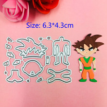 1pcs Dragon Ball metal Cutting Die+2PCS carft Tag Stencils for DIY Scrapbooking/photo album Decorative Embossing Paper Cards