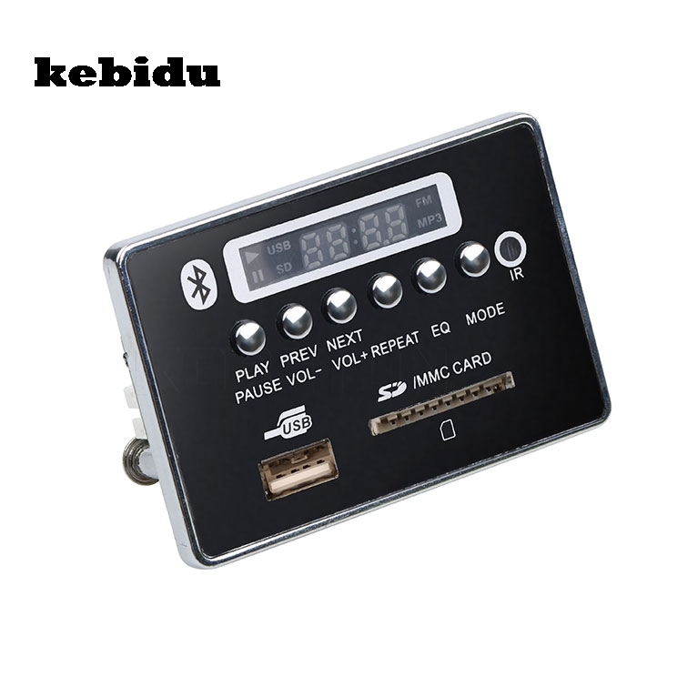 Kebidu Neue Auto Usb Mp3 Player Integrierte Bluetooth Hände-freies Mp3 Decoder Board Modul Jq-d028b Fernbedienung Usb Fm Aux Radio Hifi-player Hifi-geräte