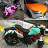 Bright Glossy Vinyl Car Decal Wrap Sticker Pink Orange Green Tiffany Blue Gloss Film Wrap For HOOD Roof Motorcycle Scooter