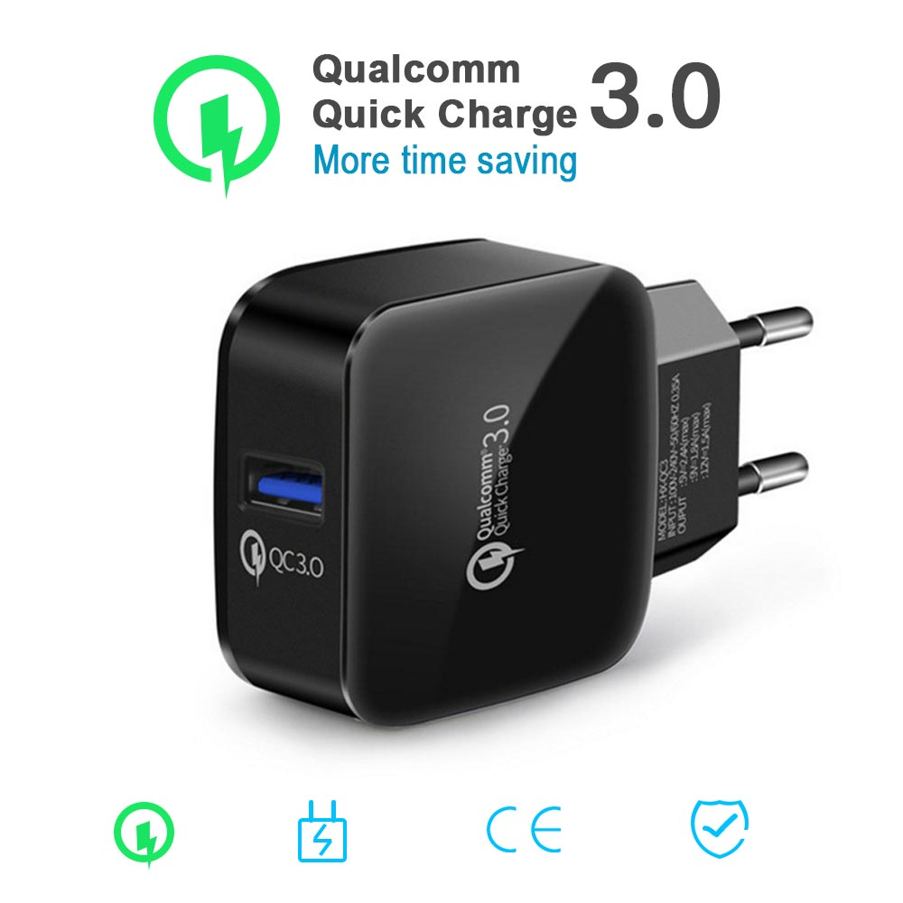 3A Quick Charge QC 3,0 Schnelle Lade USB Handy Ladegerät für Samsung Xiaomi Huawe iphone x UNS EU Stecker adapte