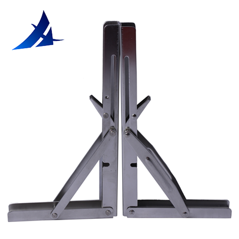 One Pair Stainless Steel Folding Shelf Bench Table Folding Shelf Table Bracket