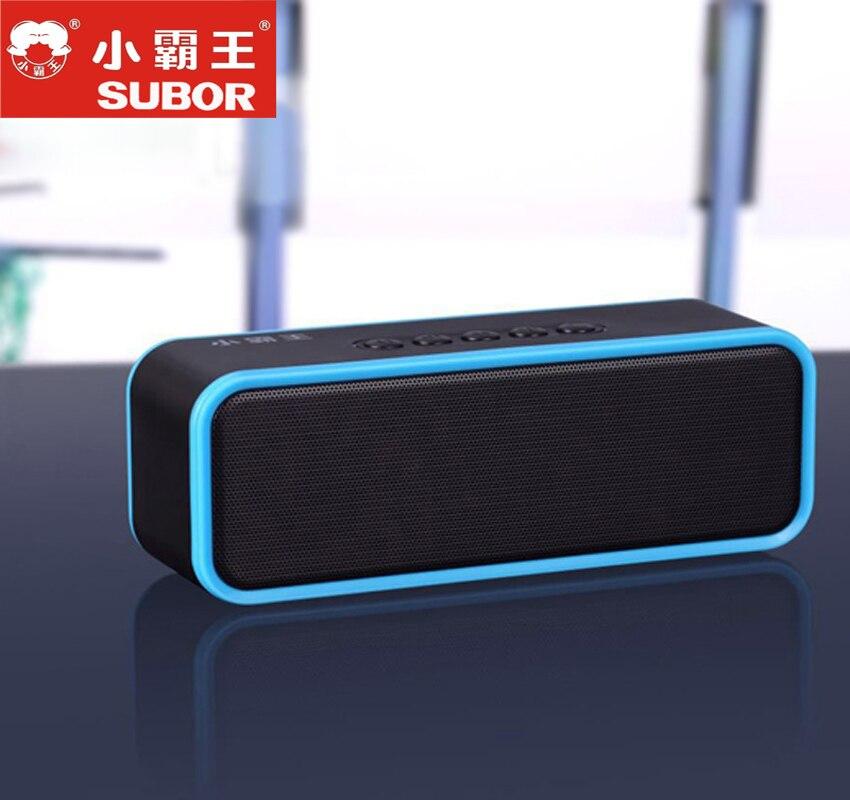 Subor D51 HD basse haut-parleur sans fil Bluetooth haut-parleur Radio FM avec Support micro TF stéréo caisson de basses boîte Audio