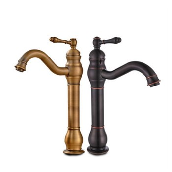 Black/ brass antique faucet European bathroom basin faucet hot and cold water faucet