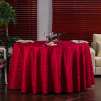 100% Polyester Red White Plain Table Linen Round Tablecloth For Dinning Table Cloth For Hotel Wedding Banquet Free Shipping