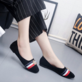 Fashion Shoes Women 2016 Street Fashion Square Toe Suede Leather Flat Shoes Slip-on  Metal Decoration Female Flat Shoes
