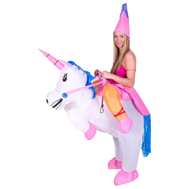 Inflatable Unicorn Costumes Princess Outfit Suit Party Fancy Dress Halloween Purim Costume Kids Women Men Adult - Fun Ltd store